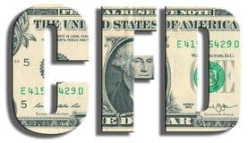 CFD - Contrato para a diferença Imagem de Stock