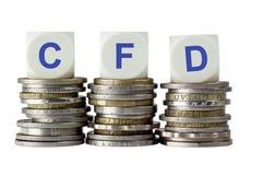 CFD - Contrato para a diferença Fotos de Stock