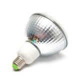 CFL在白色隔绝的荧光灯电灯泡 免版税库存图片