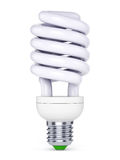 CFL bulb on white background Royalty Free Stock Images