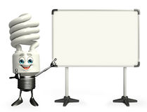 CFL Character with display board Stock Photo