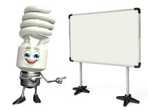CFL Character with display board Royalty Free Stock Image