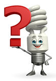 CFL Character with question mark Stock Image