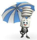 CFL Character with umbrella Stock Photography