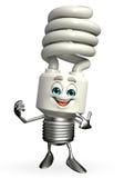 CFL charakter wskazuje Obrazy Stock