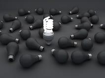 Cfl an Eco energy saving light bulb, Stock Photo