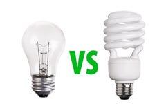 CFL Fluorescencyjna żarówka odizolowywająca na bielu Obrazy Royalty Free
