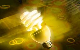CFL lamp Royalty Free Stock Images