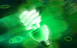 CFL lamp. Digital illustration Royalty Free Stock Image