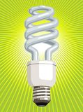 CFL Light Bulb with green background Stock Photography