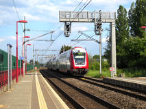 CFL train in Luxembourg Royalty Free Stock Image