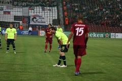 CFR Cluj contre FC Bâle dans Champions League Photos libres de droits