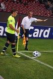 CFR Cluj versus FC Bazel in Champions League Stock Foto