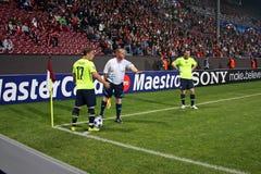 CFR Cluj versus FC Bazel in Champions League Royalty-vrije Stock Foto's
