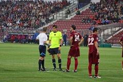 CFR Cluj versus FC Bazel in Champions League Royalty-vrije Stock Afbeelding