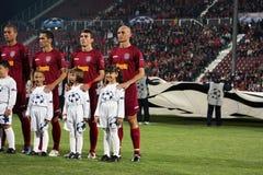 CFR Cluj versus FC Bazel in Champions League Stock Afbeeldingen