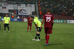 CFR Cluj vs. FC Basel in Champions League Royalty Free Stock Photos