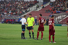 CFR Cluj vs. FC Basel in Champions League Royalty Free Stock Image