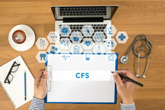 CFS CONCEPT (Consolidated Financial Statement) Stock Photo