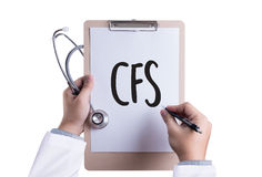 CFS  (Consolidated Financial Statement) Medical Concept: CFS - C Royalty Free Stock Photo