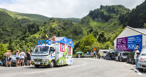 CFTC-lastbil - Tour de France 2014 Royaltyfria Bilder