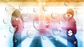 CFTC u S conceito regulamentar da finança do negócio de comissão da troca de futuros da mercadoria imagens de stock royalty free