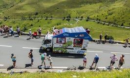 CFTC-Voertuig - Ronde van Frankrijk 2014 Stock Afbeeldingen