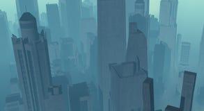 cg城市 免版税库存图片