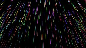 Cg animation of color explosion on black. stock footage