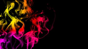 CG animation of colorful smoke on a black background. Juicy and fresh color stock illustration