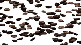 Falling coffee beans stock video