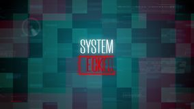 CG Animation With Text, System Hacked
