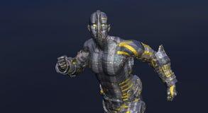 Cg cyborg man Royalty Free Stock Image