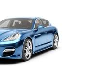 CG 3d framför av den generiska lyxiga sportbilen som isoleras på en vit bakgrund Grafisk illustration Royaltyfri Foto