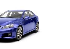 CG 3d framför av den generiska lyxiga sportbilen som isoleras på en vit bakgrund Grafisk illustration Arkivbild