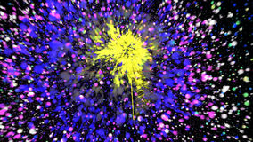 CG fireworks. Abstract background. Digital. 3d render vector illustration