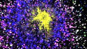 Cg-fyrverkerier abstrakt bakgrund digitalt vektor illustrationer