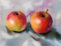Cg painting apple Royalty Free Stock Photos