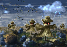 Cg painting scarecrow Stock Photo