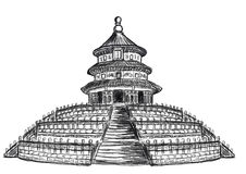 Cg painting Temple of Heaven Stock Images