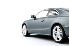 CG render of generic luxury coupe car Royalty Free Stock Photos