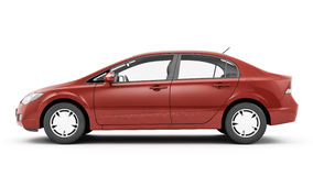 CG render of generic luxury coupe car Stock Photo
