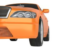 A CG render of a generic luxury sedan Stock Photos