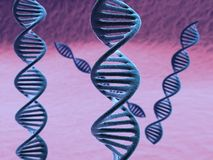 A CG rendering of a dna helix Stock Image