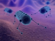 A CG rendering of some nanobots Royalty Free Stock Images