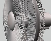A CG rendering of a table fan 3d model Stock Photography