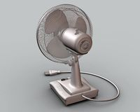 A CG rendering of a table fan 3d model Royalty Free Stock Images
