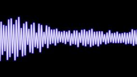 CGI音频波浪 库存例证