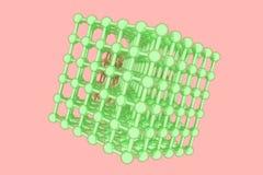 CGI геометрический, concepture стиля молекулы, блокировать квадрат для текстуры дизайна, предпосылки E бесплатная иллюстрация