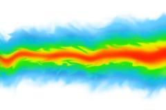 Cgi-bildspråk för fluid dynamik/mekanikersimuleringspå vit bakgrund Royaltyfri Fotografi